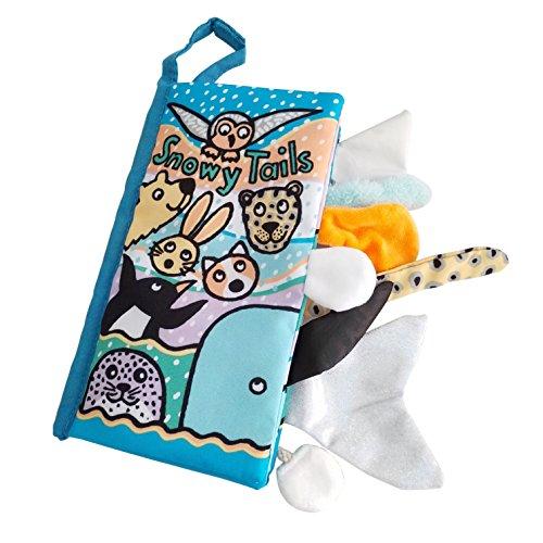 JOLLY BABY Jollybaby Libro Stoffa, Libro di panno morbido per i bambini, Libro per Bimbi di Età Compresa Tra 0-24 Mesi, Libro per lo Sviluppo Intellettivo del Bambino (Blu)