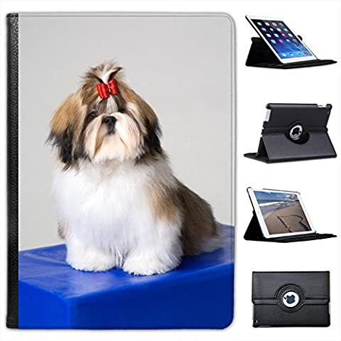 Fancy A Snuggle bestdeal UK de piel sintética para iPad, diseño de perros negro noir - Shih Tzu Dog Sitting On A Box Ipad Air 2