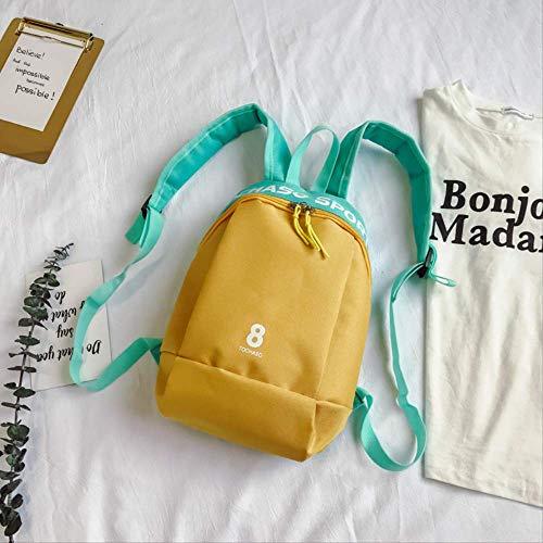 Kinder Rucksack, Kinder Casual Vielseitige Schultertasche Persönlichkeit Jungen Und Mädchen Schulter Diagonal Paket, Kinder Tasche gelb -