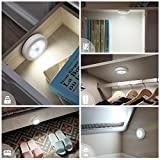 Criacr Motion Sensor Light, (6 LED, 3 Pack) Cordless Battery-Powered LED Night Light with 3M Adhesive Pads, Safe Lights and Great