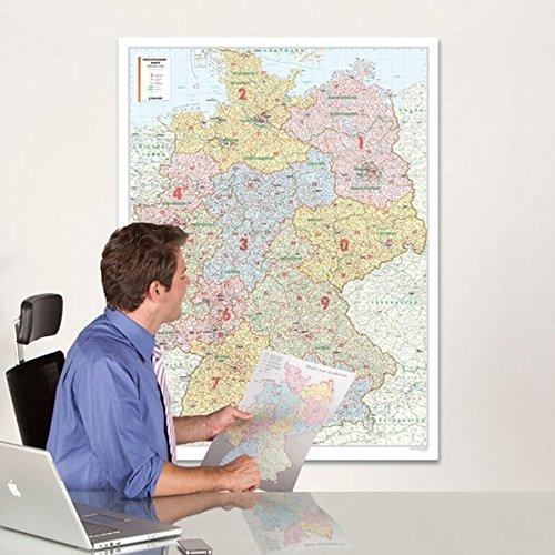 Postleitzahlenkarte Deutschland 1:700 000, Posterkarte (Karten Laminierte)