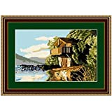 Brigantia Needlework Ullswater Boathouse Tapestry Picture Kit in Tent Stitch