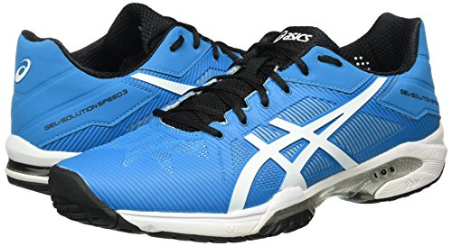 Asics Gel-Solution Speed 3, Scarpe da Tennis Uomo, Multicolore (Blue Jewel/White/Black), 44 1/2 EU