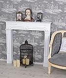 Kaminkonsole Shabby Chic Dekokamin Vintage Kamin Weiss Holzkamin Palazzo Exklusiv