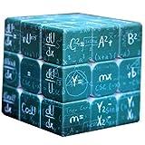 My-dym Mini Cubo mágico enseñando 3x3x3 matemáticas fórmula Velocidad Rubiks Cubo Twist Puzzle Juguetes para niños Regalo,Green