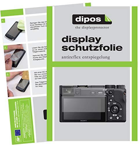 dipos I 6X Schutzfolie matt passend für Sony Alpha 6400 Folie Displayschutzfolie
