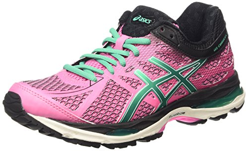 ASICS Gel-Cumulus 17, Women's Running Shoes, Purple (Flamingo/Peacock Green/Black 1988), 5 UK