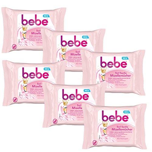 empfindliche mischhaut mit unreinheiten bebe 5in1 Sanfte Mizellentücher - Abschminktücher für alle Hauttypen - 6 x 25 Stück
