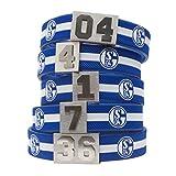 BRAYCE FC Schalke 04 Armband mit Deiner Trikot Nummer 1-99 I S04 & Fußball pur