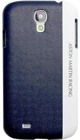 Aston Martin Racing Hardcover-Schutzhülle, für Samsung Galaxy S4, mit geprägtem Logo, Dunkelblau / Weiß