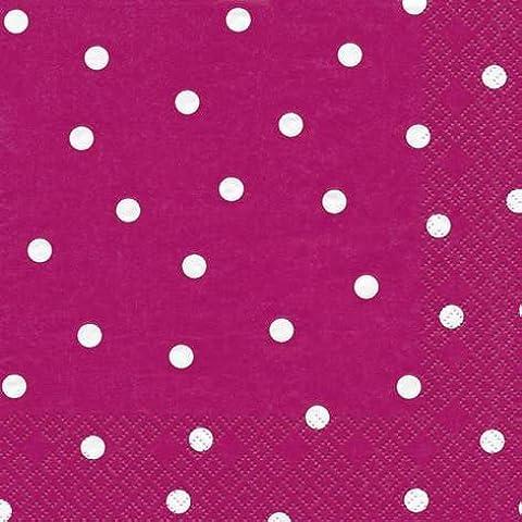 60 Tovaglioli Dots berry 33 x 33 cm 3-strati di carta, Lunch Tovaglioli