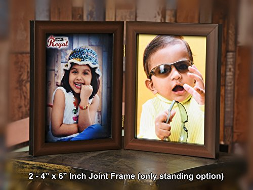 Ajanta Royal Couple Photo Frame Insert : A-25B(4x6) (Brown)