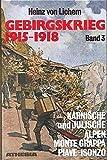 Gebirgskrieg 1915-1918 Bd.3 : Karnische und Julische Alpen, Monte Grappa, Piave-Isonzo