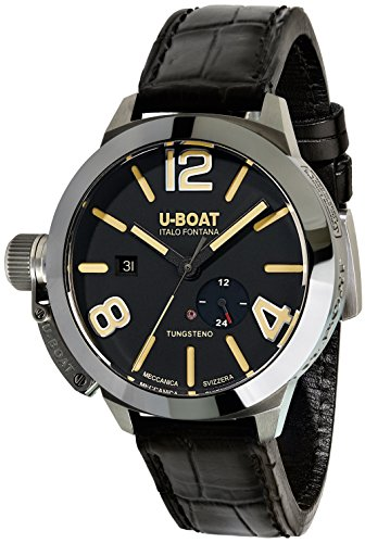 U-Boat Classico Stratos 45 BK Automatic Watch, Black, 45mm, Polished Tungsten