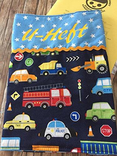 U-Heft Hülle Umschlag DIN A4 für Untersuchungsheft Gesundheitspass Fahrzeuge Jungs Schutzhülle