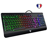 VicTsing Clavier Gamer Filaire Ultra Mince, Gaming Keyboard Tout Métallique USB Ergonomique LED...