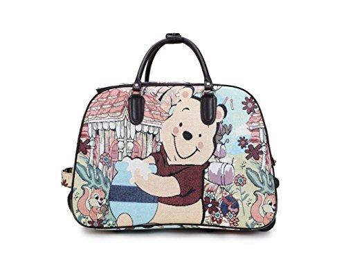 LeahWard® Damen Reise Reisetasche Wagen Gepäck Tasche mit Rads Kabine genehmigen CW00308A CW00308D (BEAR) -