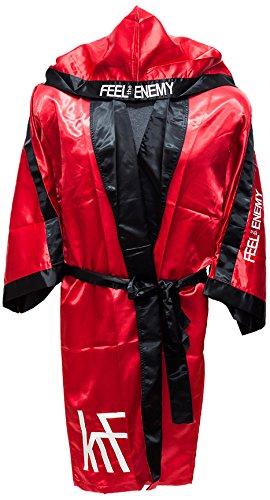 KRF Feel The Enemy 0013304 Bata Competición de Boxeo, Hombre, Rojo, X
