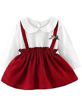 JYJM Babykleidung Prinzessin Kleid Mädchen langärmelige Blumen Gaze Kleid Prinzessin Kleid Mode Babykleid Nettes...