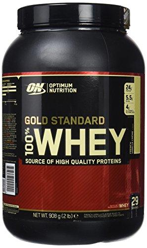 Optimum Nutrition Gold Standard 100% Whey Proteína en Polvo, Crema de Vainilla Francesa - 908 g