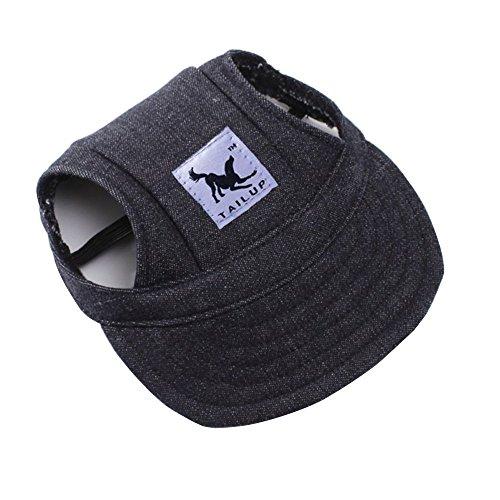 (Centtechi Pet Hund Mütze Leinwand Teddy Baseball Hat Haustier Hüte Outdoor Sommer Sun Sport Caps mit Zwei Löchern für Hunde oder Katzen)