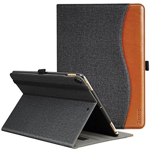 Ztotop Hülle für iPad Air (3) 10,5 2019 & iPad Pro 10,5 2017,für iPad 10.5 2019/2017,Premium Leder Geschäftshülle mit Ständer,Kartensteckplatz,Auto Schlaf/Aufwach Funktion,Mehrfachwinkel,Denim Schwarz