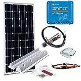 Wattstunde 100W Solaranlage für Wohnmobil - MPPT Laderegler - Haltespoiler (1)