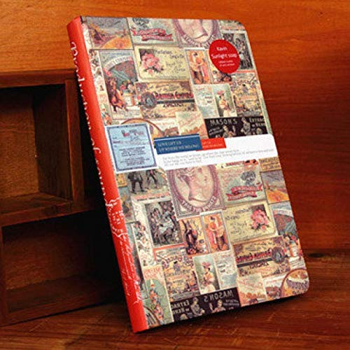 Europäisches Retrostilfarbtonseiten-Tagebuchnotizbuch, damit Männer und Frauen Unternehmensplanung Produktivität erhöhen (Mädchen Zeitschriften Zu Schreiben)