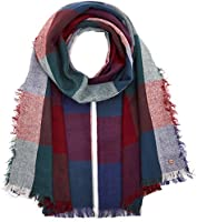 edc by Esprit Accessoires Damen Schal 097CA1Q011 Mehrfarbig (Garnet Red 620), One size