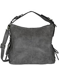 Mevina Damen Handtasche mit Nieten Leder Optik Schultertasche Henkeltasche Umhängetasche viele Farben