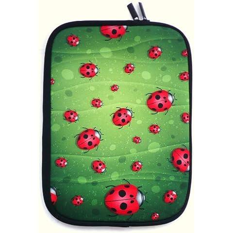 Emartbuy® Coccinelle Impermeabile Morbido Neoprene con Chiusura a Zip Custodia Sleeve Case Cover Adatto per Acer Aspire V3 Series 15.6 Pollice ( 15-16 Pollice Laptop / Notebook / Ultrabook