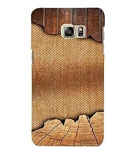 PrintVisa 3D Jute & Wood Pattern 3D Hard Polycarbonate Designer Back Case Cover for SAMSUNG GALAXY NOTE 6