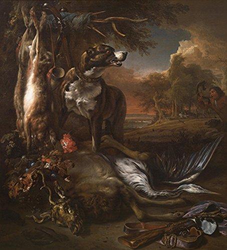 Das Museum Outlet–Jan Weenix–Ein Deerhound mit Dead Game und Anbaugeräte der Chase, gespannte Leinwand Galerie verpackt. 96,5x 121,9cm