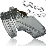 N22 SENSUAL - CB-6000 Cock Cage + Ringsatz, Keuschheitsgürtel für Männer, Metall Peniskäfig Keuschheit für Ihn - Keuschheitskäfig, Keuschheitsschell