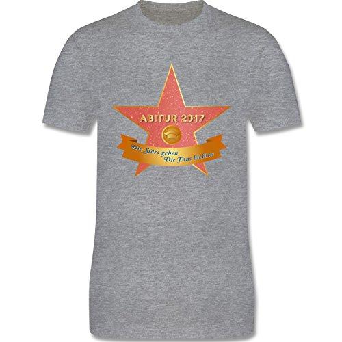 Abi & Abschluss - Abi 2017 - Die Stars gehen, die Fans bleiben - Herren Premium T-Shirt Grau Meliert