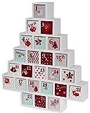 LD Weihnachten Deko Adventskalender WEIHNACHTSBAUM zum selbst befüllen - Holz XXL Weihnachtskalender