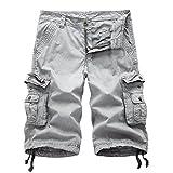 Hakjay Combat Shorts for men-Grey-28