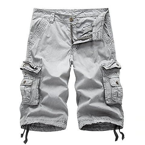 AYG - Short de sport - Homme - gris -