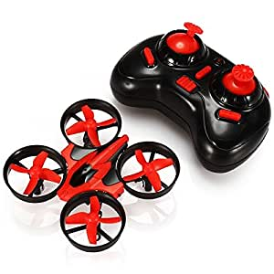 EACHINE E010 Mini UFO Quadkopter-Drone 2,4 G 4K 6-Achsen-Headless-Modus Fernsteuerung Nano-Quadkopter RTF Modus 2 - Rot