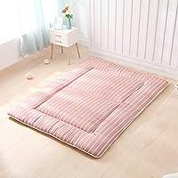 WJH Colchón futón japonés, Tatami de Piso Sleeping Pad Japonés Tradicional Suave Plegable Lavable Gruesas