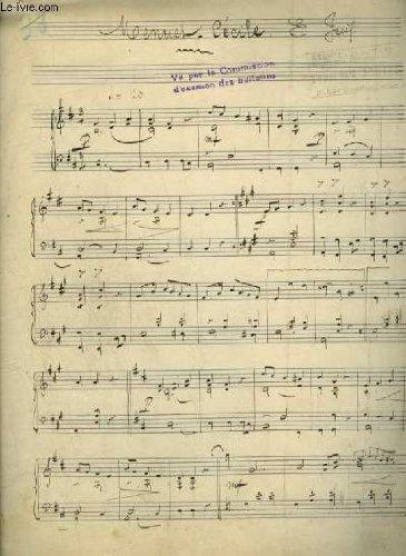 PARTITION MANUSCRITE : MENUET CECILE - POUR PIANO.