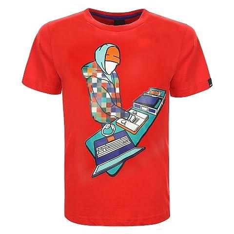 Bench Jungen Sport Pullover T-Shirt Screeen Shot rot (Fiery Red) 128