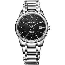 STARKING Men's AM0175SS12 Stylish Stainless Steel Bracelet Watch