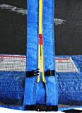 SixBros. SixJump 185 cm Gartentrampolin Blau Trampolin – Leiter – Sicherheitsnetz – Wetterplane – Lange Netzstangen - 3