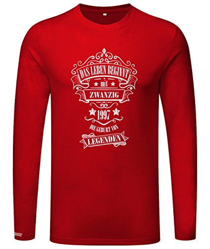 Das Leben beginnt mit 20 - 1997 - Geburt von Legenden - Herren Langarmshirt Rot