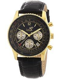 Ingraham Herren-Armbanduhr XL Atlanta Chronograph Quarz Leder IG ATLA.1.600207