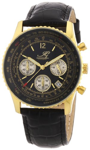 Ingraham Men's Quartz Watch Atlanta IG ATLA.1.600207 with Leather Strap