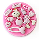 AbleGrow(TM) Baby Shower Party 3D Silicone Fondant Mold For Cake Decorating sugar craft tools