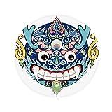 DIYthinker China Chinesischer Drache-Kopf Traditionelle Muster Anti-Rutsch-Boden Haustier-Matten Runde Badezimmer Wohnzimmer Küche Tür 60/50cm Geschenk 50X50Cm Mehrfarbig