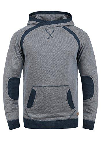 Blend Steve Herren Kapuzenpullover Hoodie Pullover Mit Kapuze Cross-Over-Kragen Und Fleece-Innenseite, Größe:M, Farbe:Navy (70230)